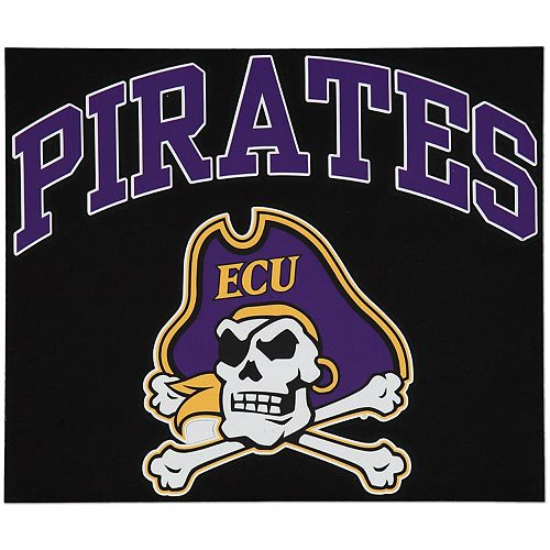 "East Carolina Pirates 12"" x 12"" Arched Logo Decal"