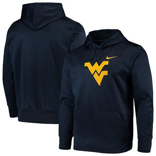 Men's Nike Navy West Virginia Mountaineers Circuit Logo Performance Pullover Hoodie