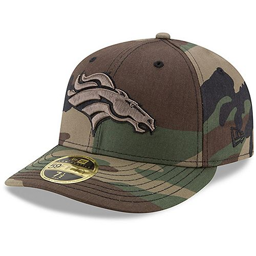 Men's New Era Denver Broncos Woodland Camo Low Profile 59FIFTY Fitted Hat