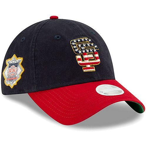 Women's New Era Navy San Francisco Giants 2019 Stars & Stripes 4th of July 9TWENTY Adjustable Hat