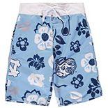 Youth Wes & Willy Carolina Blue North Carolina Tar Heels Floral Swim Trunks