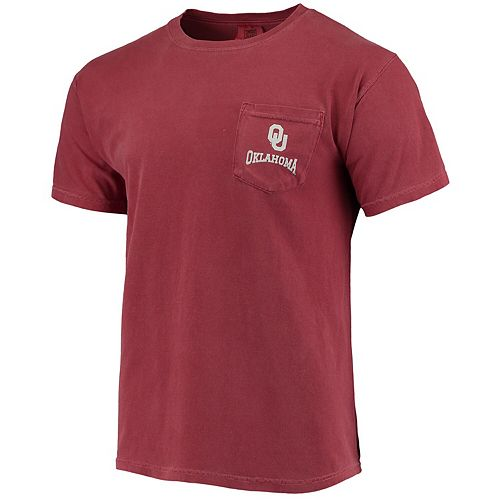 Men's Crimson Oklahoma Sooners Southern Collegiate Comfort Colors State T-Shirt