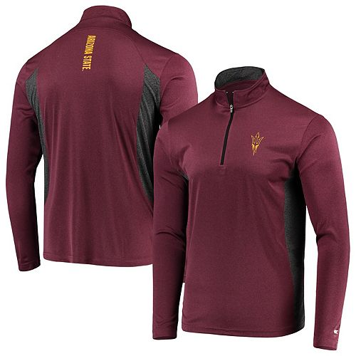 Men's Colosseum Maroon Arizona State Sun Devils Audible Windshirt Quarter-Zip Pullover Jacket