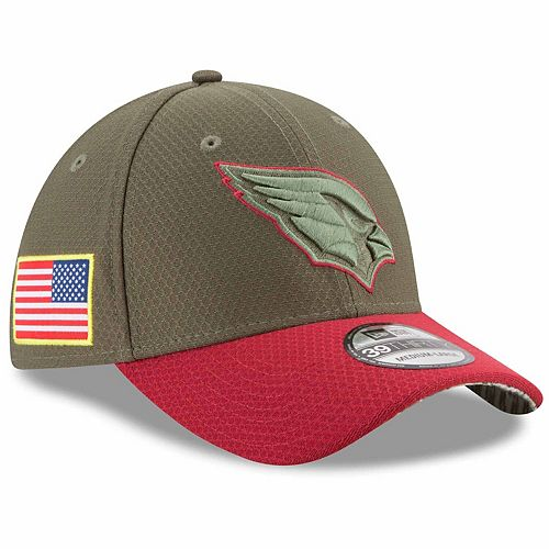 Youth New Era Olive Arizona Cardinals 2017 Salute To Service 39THIRTY Flex Hat