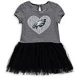 Girls Toddler Black/White Philadelphia Eagles Celebration Scoop Neck Tutu Dress