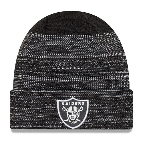 Youth New Era Black Oakland Raiders 2017 Sideline Official TD Knit Hat
