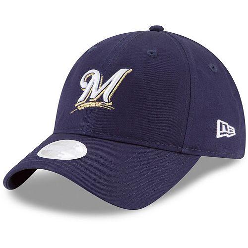 Women's New Era Navy Milwaukee Brewers Core Classic 9TWENTY Adjustable Hat
