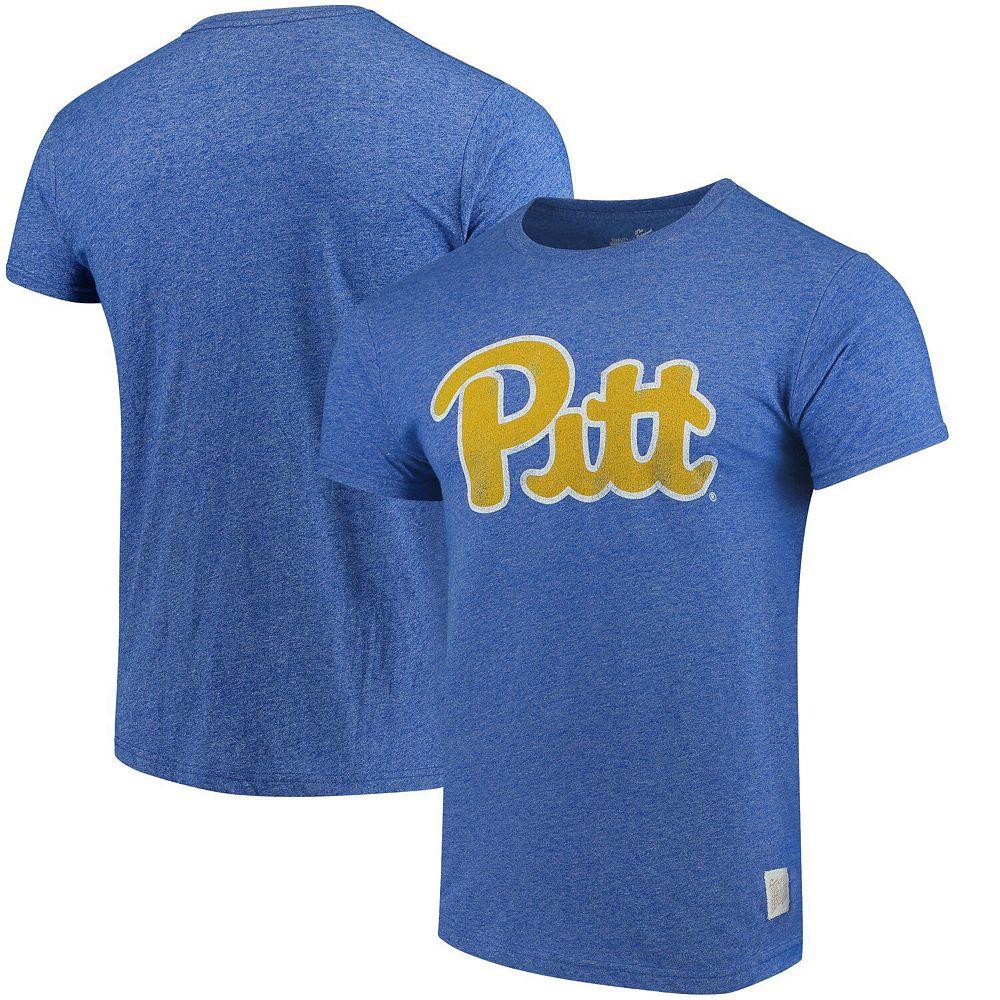 Men's Original Retro Brand Royal Pitt Panthers Script School Logo Mock Twist T-Shirt