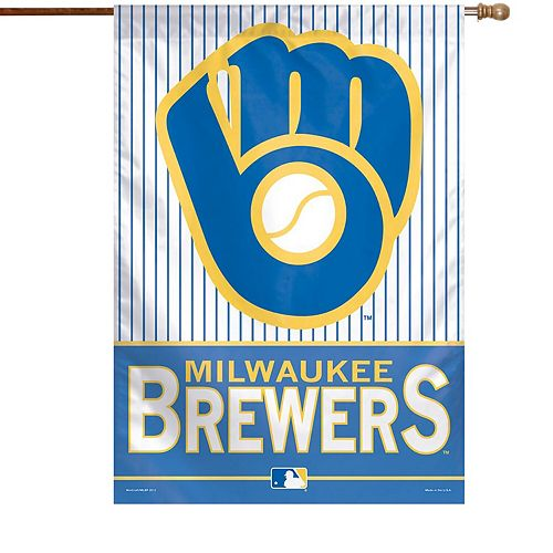 "WinCraft Milwaukee Brewers 28"" x 40"" Glove Logo Single-Sided Vertical Banner"