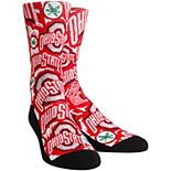 Youth Scarlet Ohio State Buckeyes Logo Sketch Crew Socks