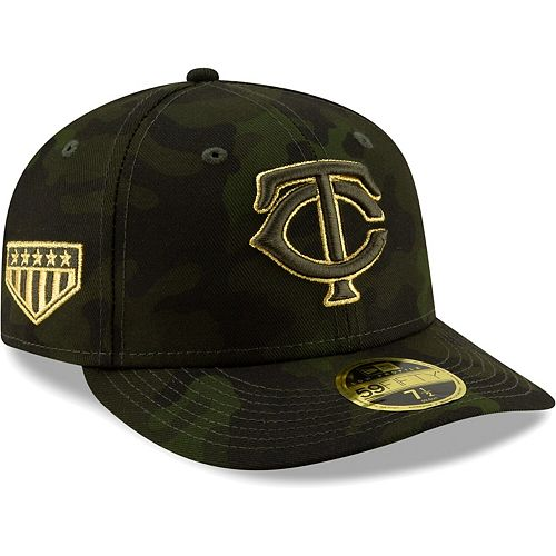 Minnesota Twins New Era 2019 MLB Armed Forces Day On-Field Low Profile 59FIFTY Fitted Hat - Camo