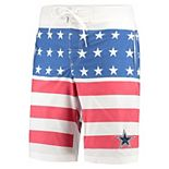 Men's G-III Sports by Carl Banks Navy/Red Dallas Cowboys Patriotic Swim Trunks