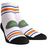 Men's White Florida Gators Classic Stripes Quarter-Length Socks