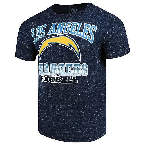 Men's G-III Sports by Carl Banks Navy Los Angeles Chargers Outfield Speckle T-Shirt
