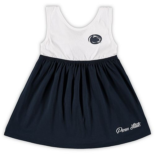 Girls Toddler Colosseum Navy Penn State Nittany Lions Berlin Bowtie Dress