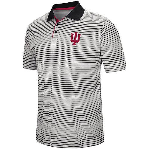 Men's Colosseum Gray Indiana Hoosiers Lesson Number One Polo