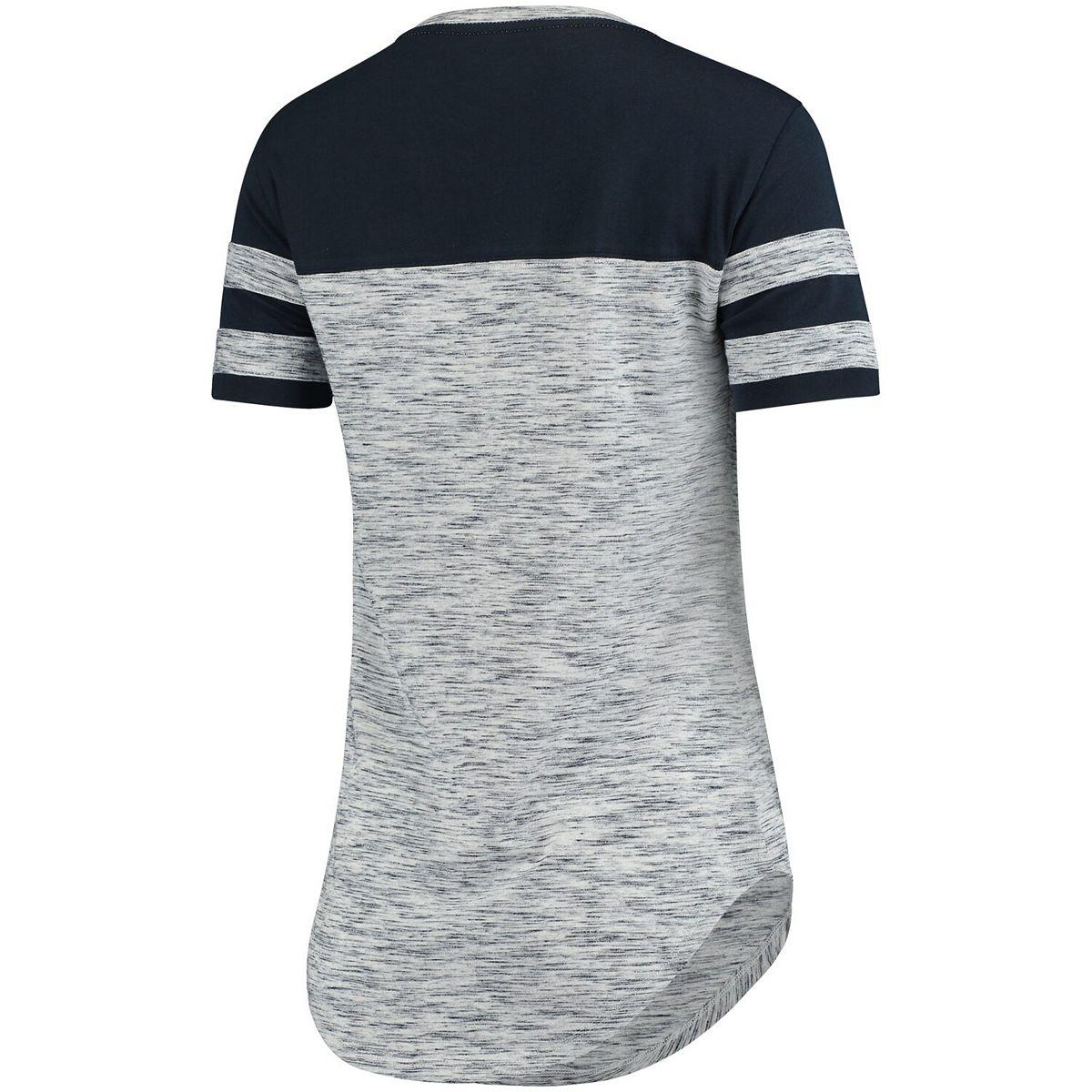 Women's 5th & Ocean by New Era Navy New York Yankees Space Dye Crew T-Shirt sXDEv
