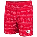Men's Colosseum Red Wisconsin Badgers Maui Swim Shorts