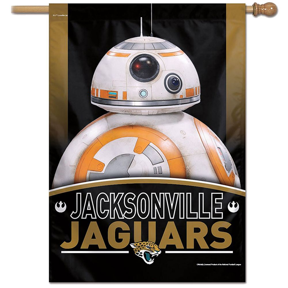 "WinCraft Jacksonville Jaguars 28"" x 40"" Star Wars Single-Sided House Banner"