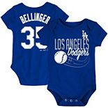 Newborn & Infant Majestic Cody Bellinger Royal Los Angeles Dodgers Baby Slugger Name & Number Bodysuit
