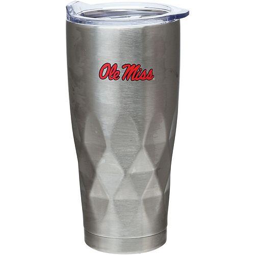 Ole Miss Rebels 22oz. Diamond Bottom Stainless Steel Tumbler