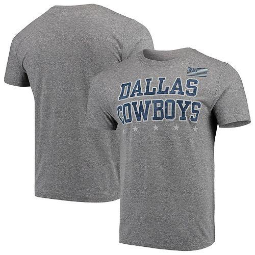 Men's Gray Dallas Cowboys Stonewall Tri-Blend T-Shirt