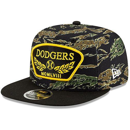 Men's New Era Camo Los Angeles Dodgers League Vet 9FIFTY Snapback Adjustable Hat