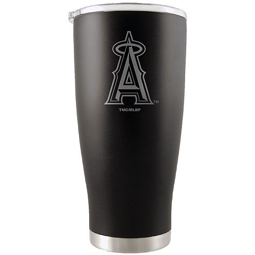 Los Angeles Angels 20oz. Etched Team Logo Tumbler - Black