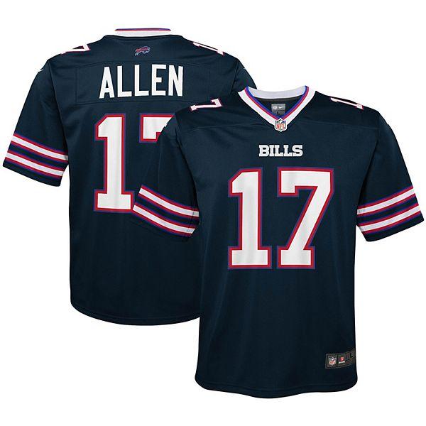 Youth Nike Josh Allen Navy Buffalo Bills Inverted Game Jersey