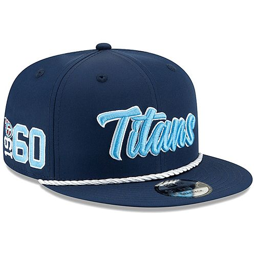 Men's New Era Navy Tennessee Titans 2019 NFL Sideline Home Official 9FIFTY 1960s Snapback Adjustable Hat