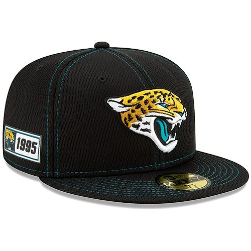 Men's New Era Black Jacksonville Jaguars 2019 NFL Sideline Road Official 59FIFTY Fitted Hat