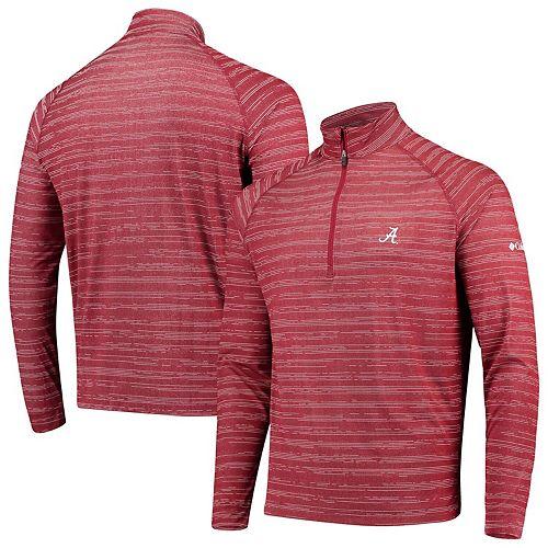 Men's Columbia Crimson Alabama Crimson Tide Approach Raglan Quarter-Zip Pullover Jacket