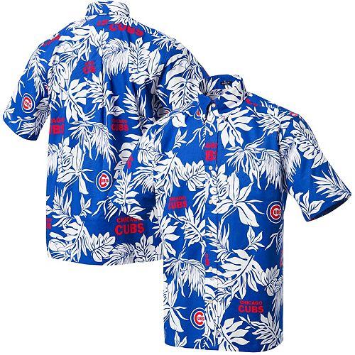 wholesale dealer 26ad4 bc453 Men's Reyn Spooner Royal Chicago Cubs Aloha Button-Up ...