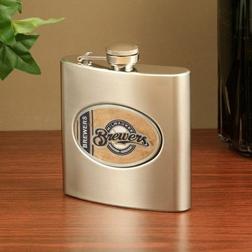 Milwaukee Brewers Stainless Steel Flask