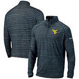 Men's Columbia Navy West Virginia Mountaineers Approach Raglan Half-Zip Pullover Jacket