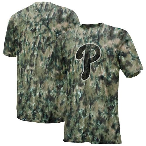 Men's Black/Tan Philadelphia Phillies Camo T-Shirt