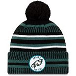 Youth New Era Green Philadelphia Eagles 2019 NFL Sideline Home Reverse Sport Knit Hat