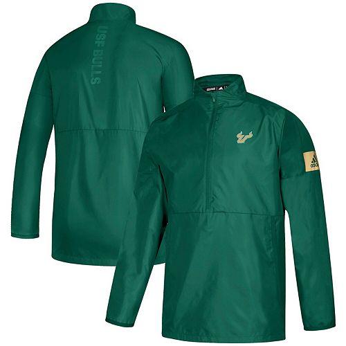 Men's adidas Green South Florida Bulls Game Mode Quarter-Zip Pullover Jacket