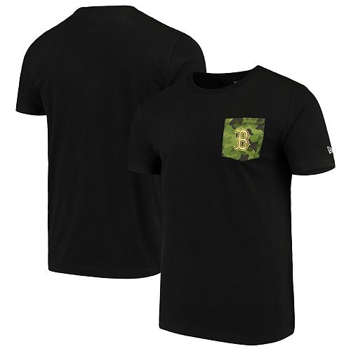 Boston Red Sox New Era Armed Special Forces Camo Pocket T-Shirt  Black
