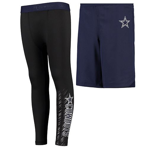 Youth Navy Dallas Cowboys Garrett Leggings & Shorts Set