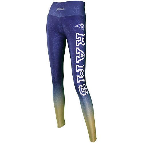 Women's Zubaz Navy Los Angeles Rams Gradient Leggings
