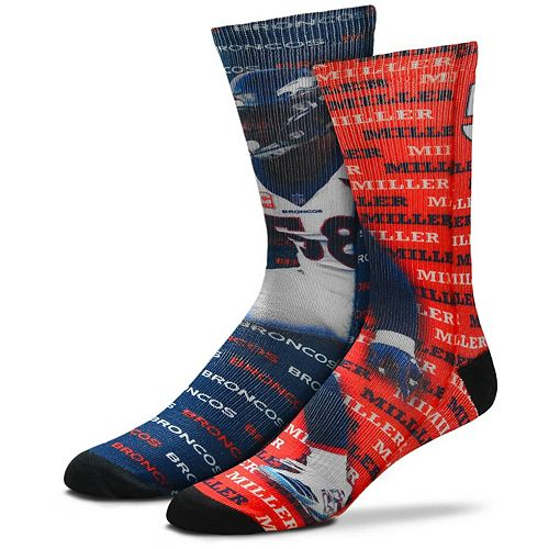 Men's For Bare Feet Von Miller Denver Broncos Say My Name Crew Socks