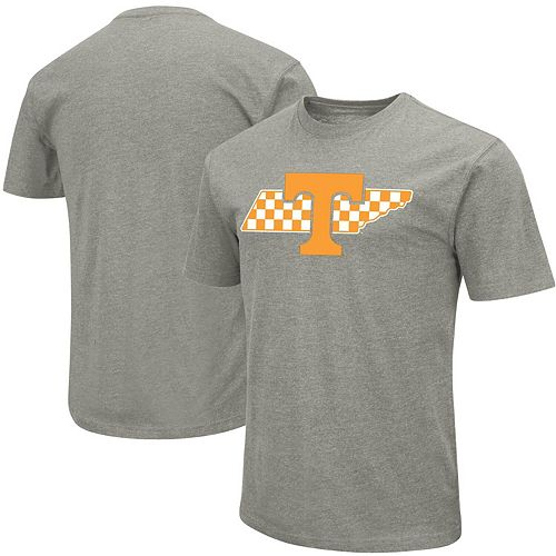 Men's Colosseum Heather Gray Tennessee Volunteers Outline T-Shirt