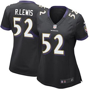 pretty nice 582b9 6c9e4 Women's Baltimore Ravens Ray Lewis Nike Purple Game Jersey