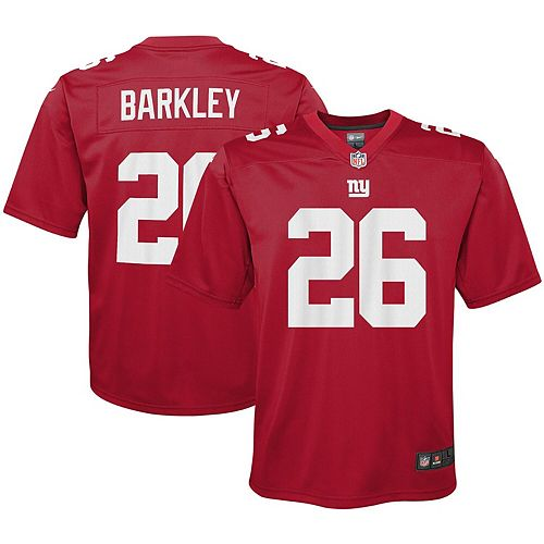size 40 b3a6d 390ff Youth Nike Saquon Barkley Red New York Giants Inverted Game Jersey
