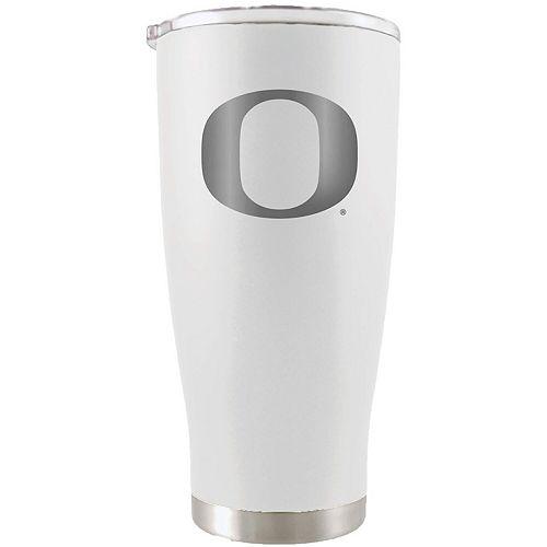 Oregon Ducks 20oz. Etched Team Logo Tumbler - White