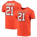 Men's Nike Barry Sanders Orange Oklahoma State Cowboys College Name & Number T-Shirt