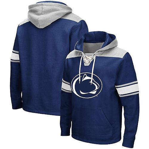 Men's Colosseum Navy Penn State Nittany Lions 2.0 Lace-Up Pullover Hoodie