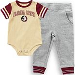 Infant Colosseum Gold Florida State Seminoles Baseball Bodysuit and Pants Set