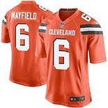 Youth Nike Baker Mayfield Orange Cleveland Browns Player Game Jersey